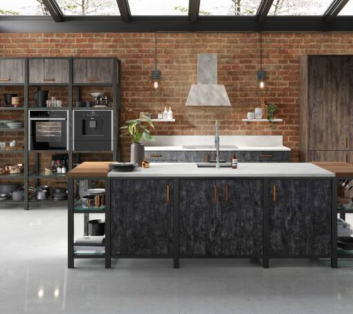 Autograph Elements Flamed Oak Matt kitchen