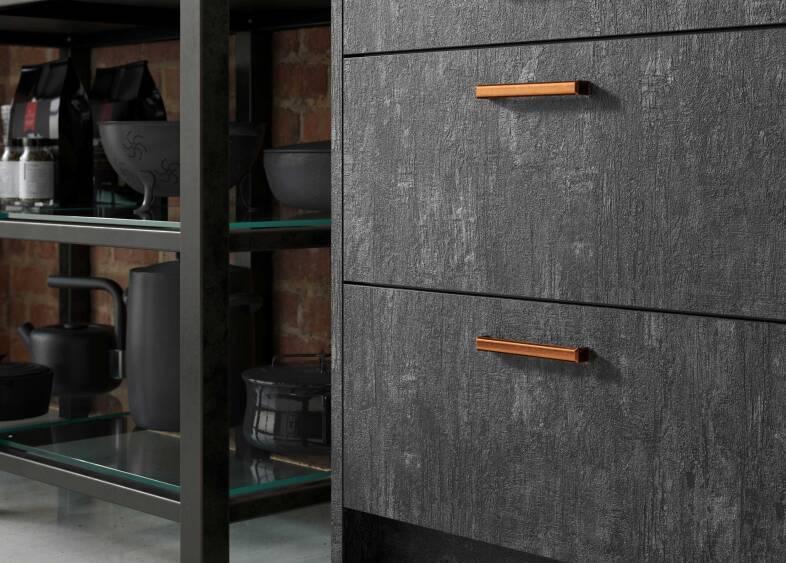 Autograph Elements Kitchen in Flamed Oak & Swiss Oak