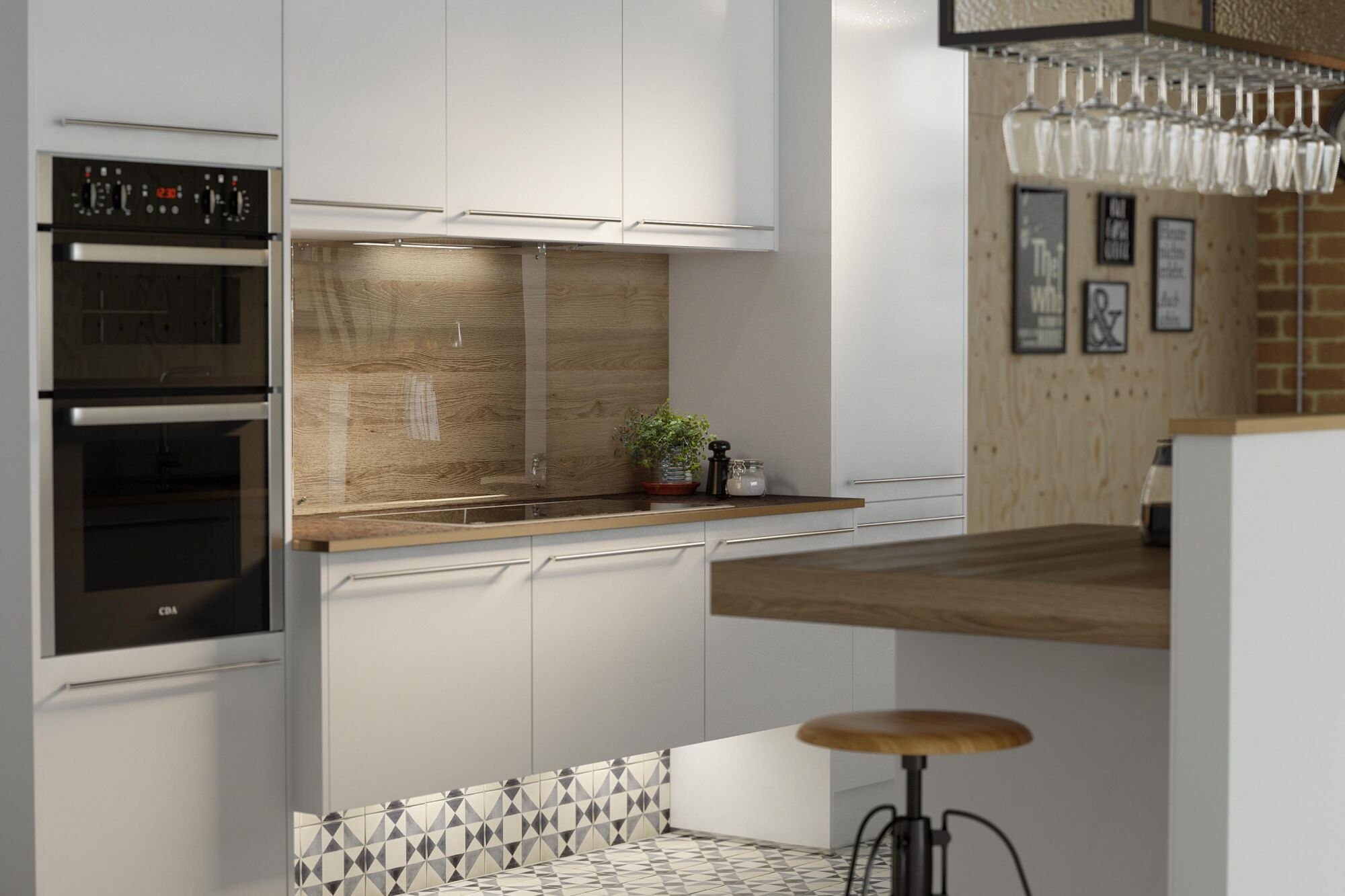 Wren Kitchens White Gloss