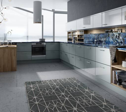 Autograph Pacrylic Blue Quartz Gloss kitchen