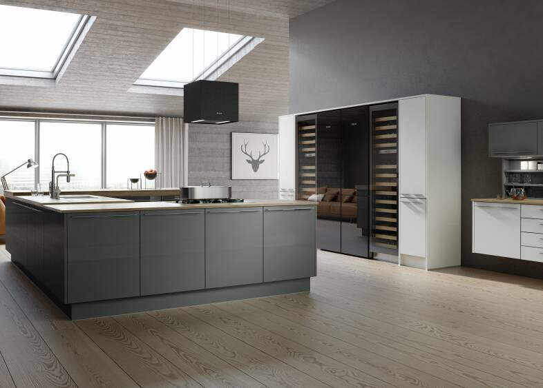 Autograph Stainless Kitchen in Slate and White