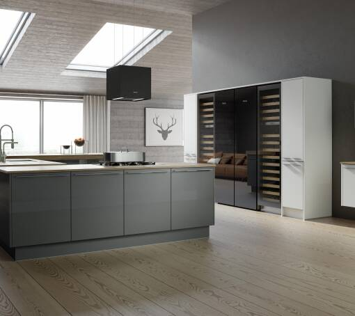 Autograph Stainless Slate Gloss kitchen