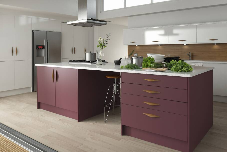 Contour Aubergine Matt Kitchen
