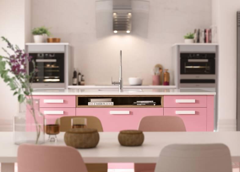 Contour Baker Miller Pink kitchen