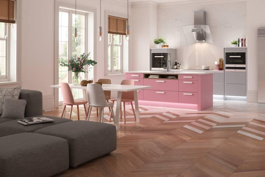 Contour Baker Miller Pink Matt Kitchen