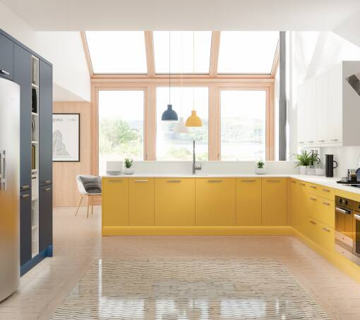 Contour Bumblebee Matt (White) kitchen