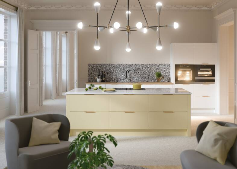 Contour Ermine Kitchen in Pina Colada Matt