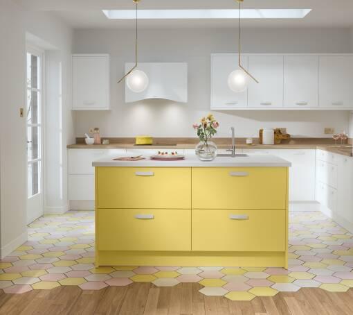 Contour Ermine Lemon Curd Matt (White) kitchen