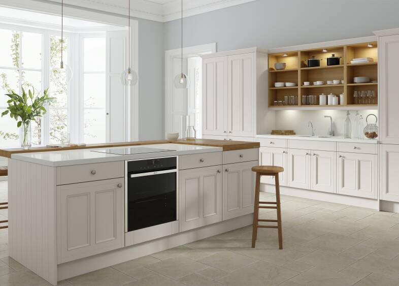 Country Ermine Kitchen in Pebble