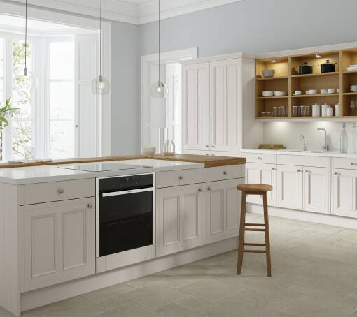 Country Ermine Pebble Matt (White) kitchen