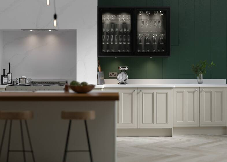 Country Kitchen in Winter White & Nimbus