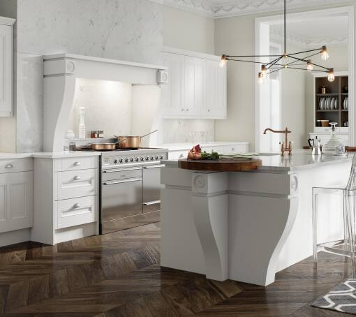 Country Super White Matt (White) kitchen