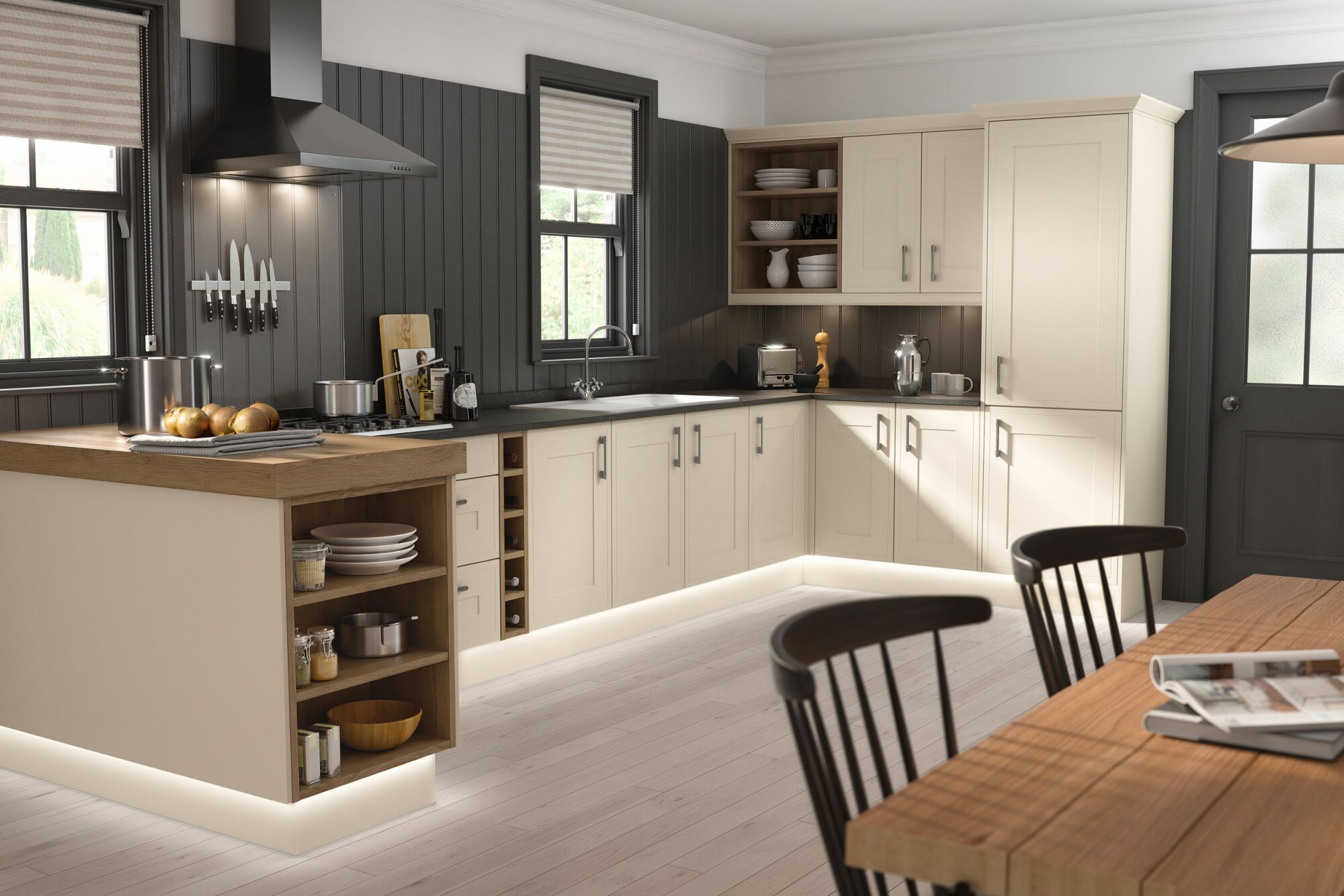 Edwardian Kitchen in Matt Cream