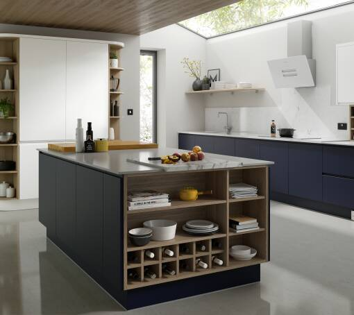 Handleless Baltic Matt kitchen