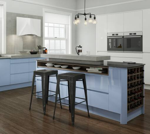 Blue Kitchens Blue Kitchen Units Doors Wren Kitchens Custom Blue Kitchen Designs