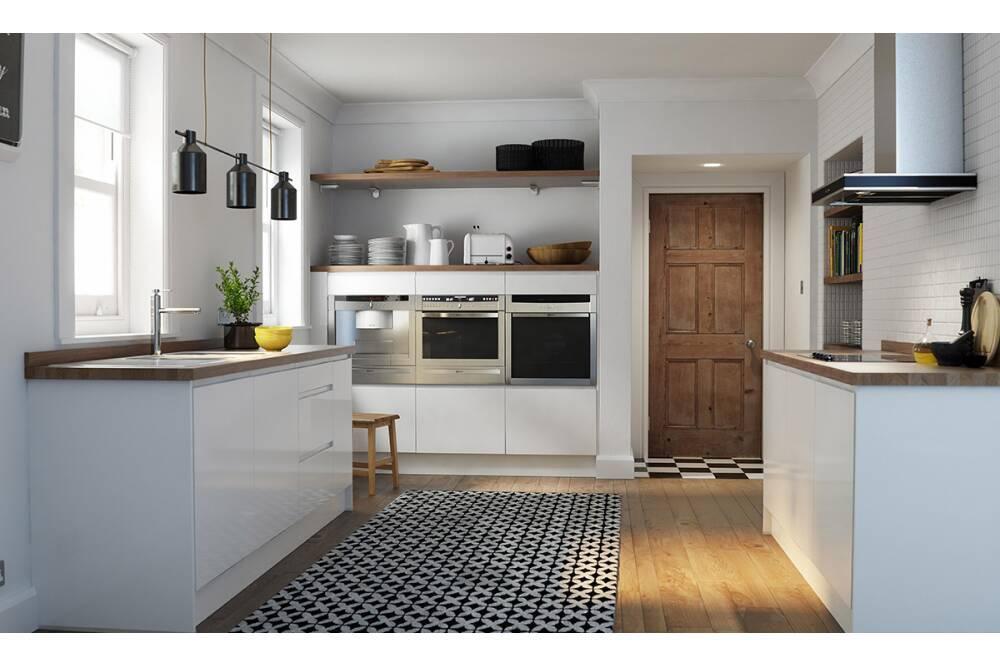 60  off kitchens Handleless White Gloss KitchenModern Kitchens UK   Modern Cabinets   Wren Kitchens. Modern Kitchen Designs Uk. Home Design Ideas