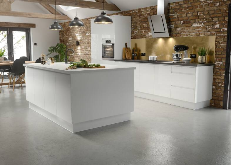 J-Pull Kitchen in Gloss White