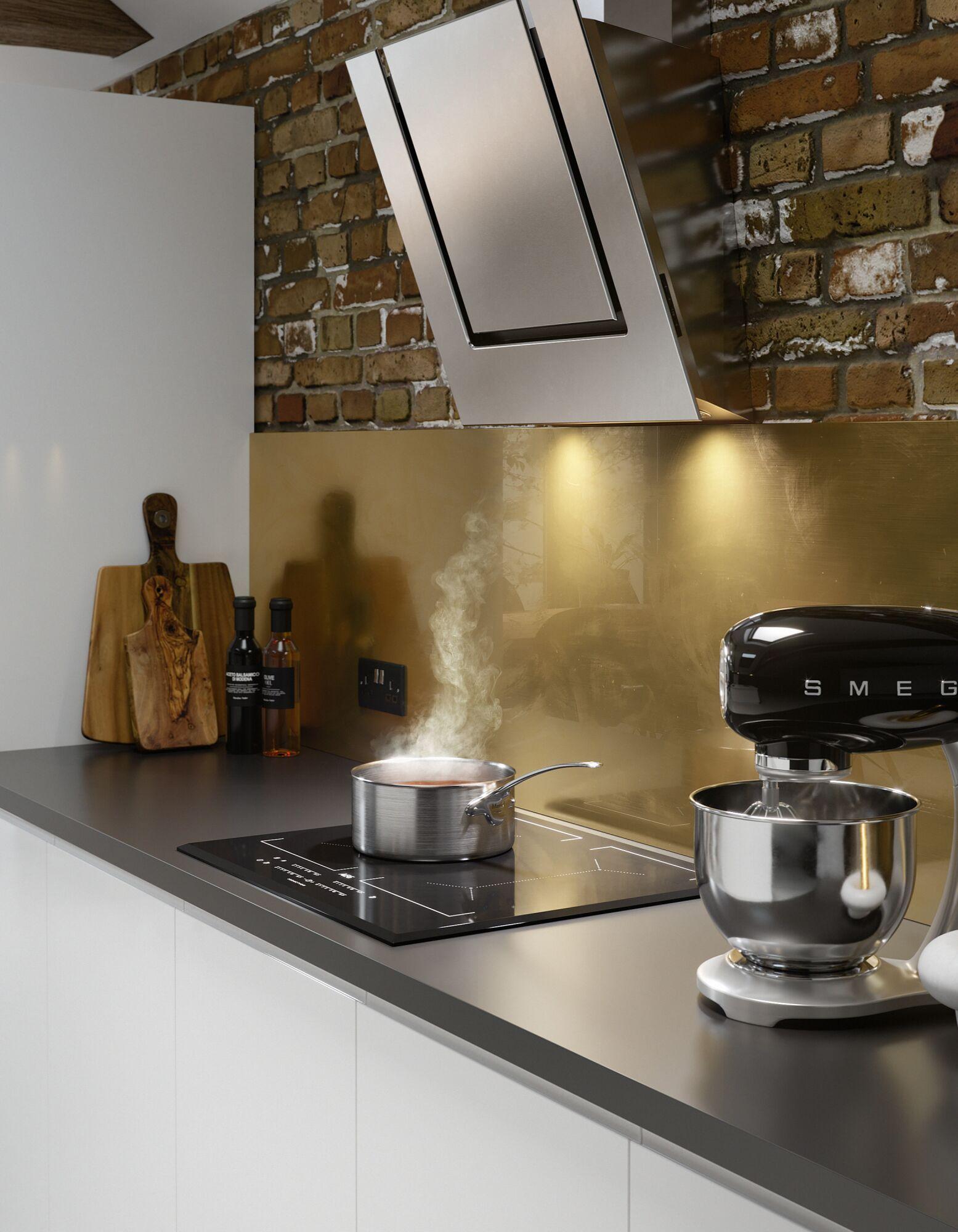 J Pull Kitchen in White Gloss