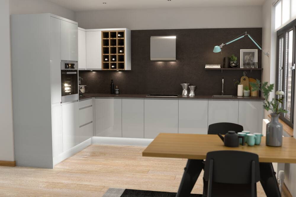 J pull pebble gloss for Infinity kitchen designs