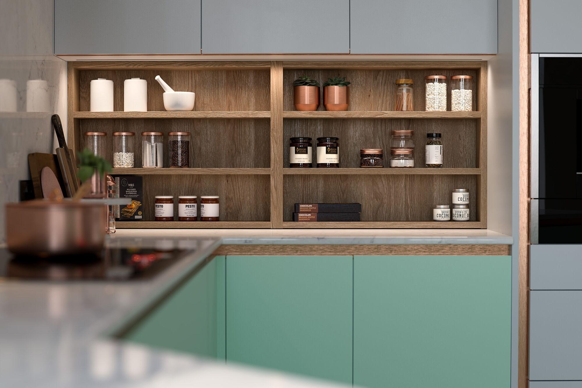 Milano Contour Ermine Kitchen in Apple Fizz