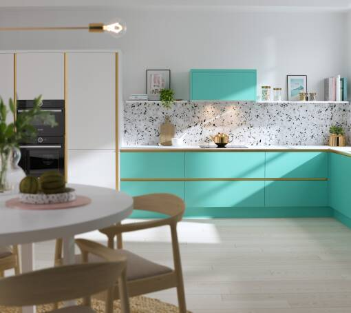 Milano Contour Ermine Spearmint Matt (White) kitchen