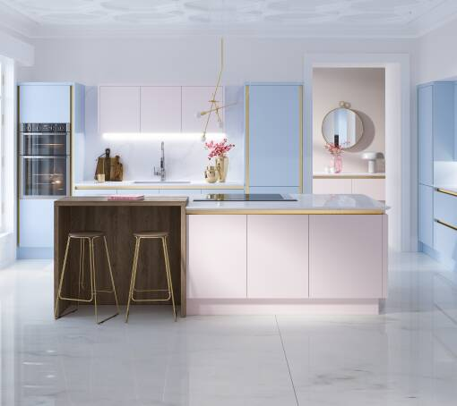 Milano Contour Ermine (White) Rose Matt kitchen