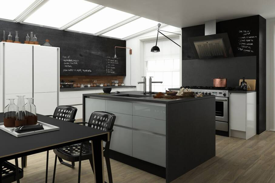 Milano Contour Gullwing Gloss Kitchen