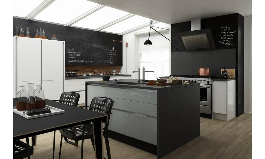 Milano Contour Gullwing Gloss Kitchen
