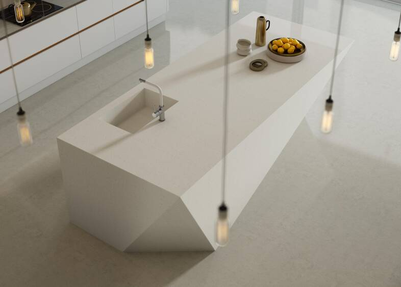 Milano Contour Kitchen in Chalk White & Arctic Oak