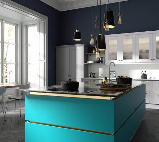 Milano Contour Lagoon Gloss kitchen