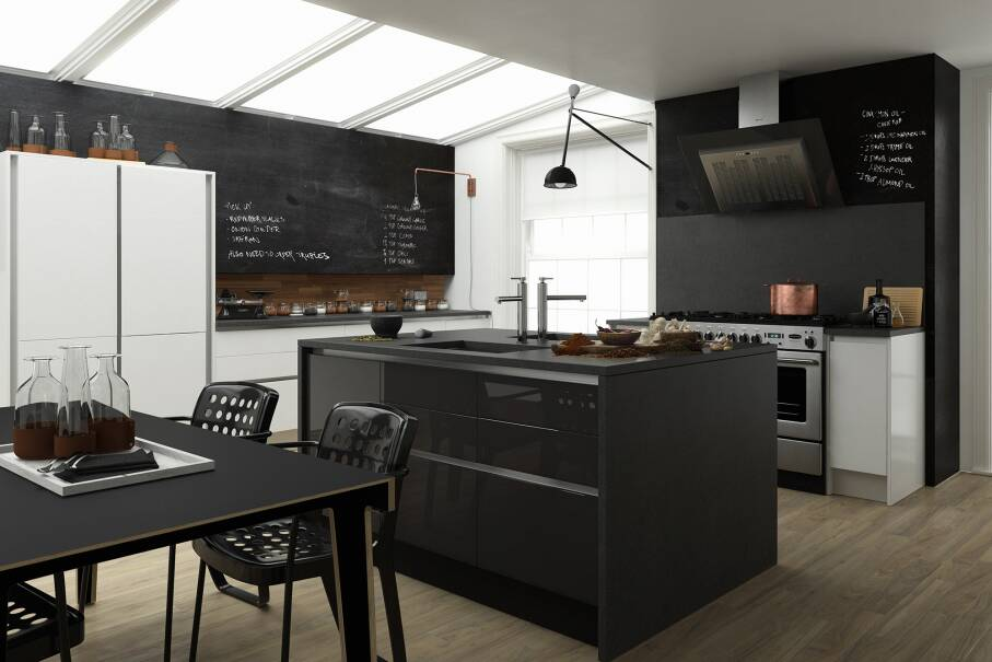 Milano Contour Raven Gloss Kitchen