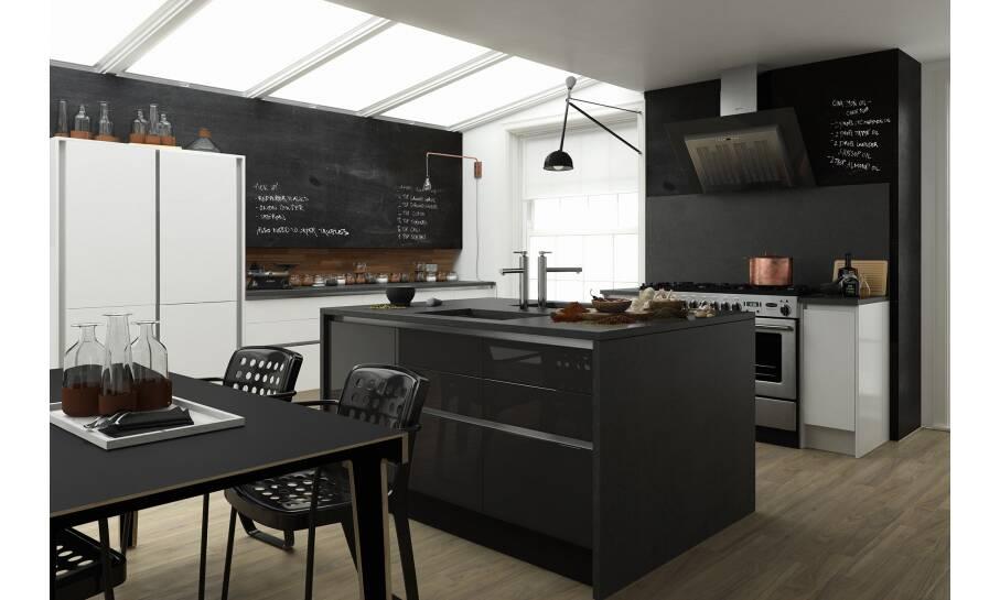 Milano Contour Raven Gloss Kitchen