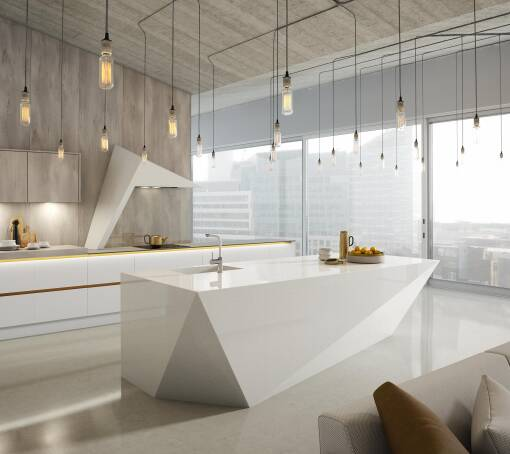 Milano Contour (White) Chalk White Matt kitchen