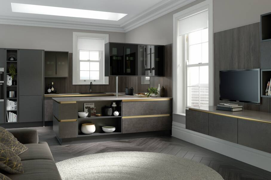 Milano Elements Horizontal Artisan Grey Matt Kitchen