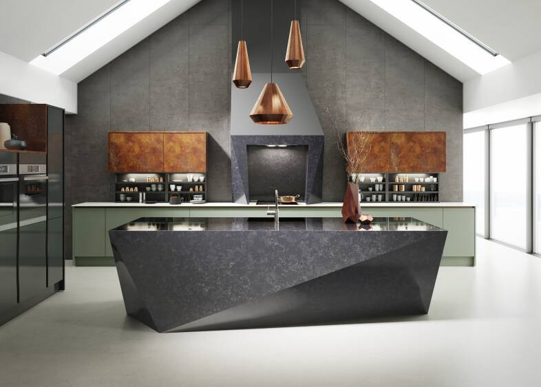 Milano Elements in Copper Slate & Roman Leaf kitchen