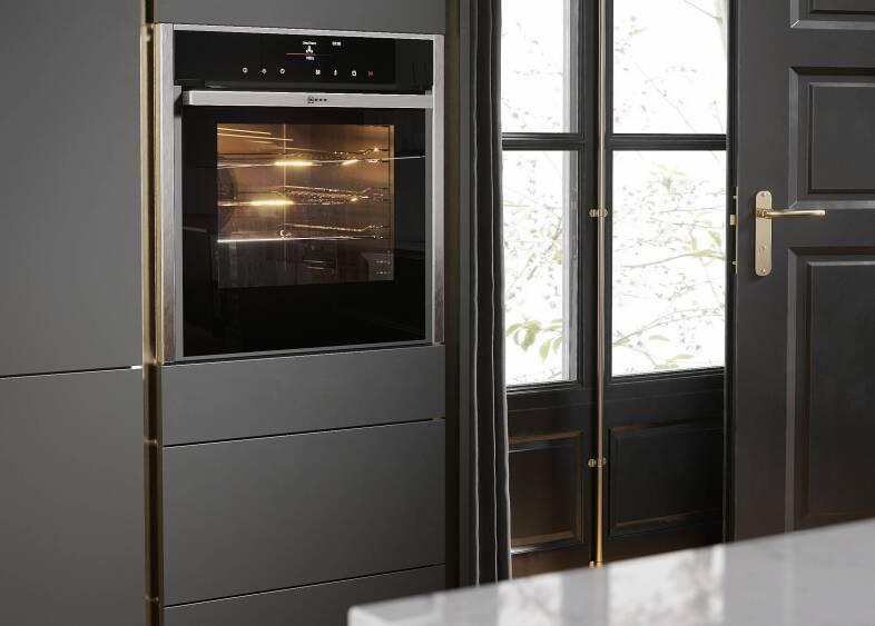 Milano Elements in Metallic Gold kitchen