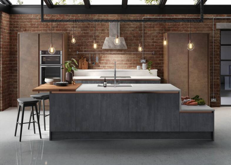 Milano Elements Kitchen in Metallic Slate