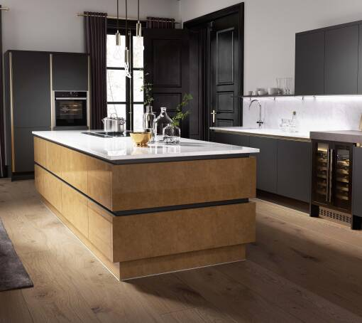 Milano Elements Metallic Gold Gloss kitchen