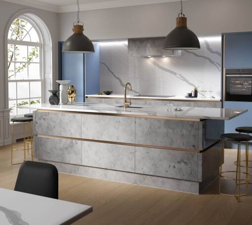 Milano Elements Metallic Silver Matt kitchen