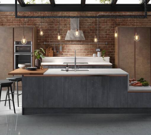 Milano Elements Metallic Slate Matt kitchen