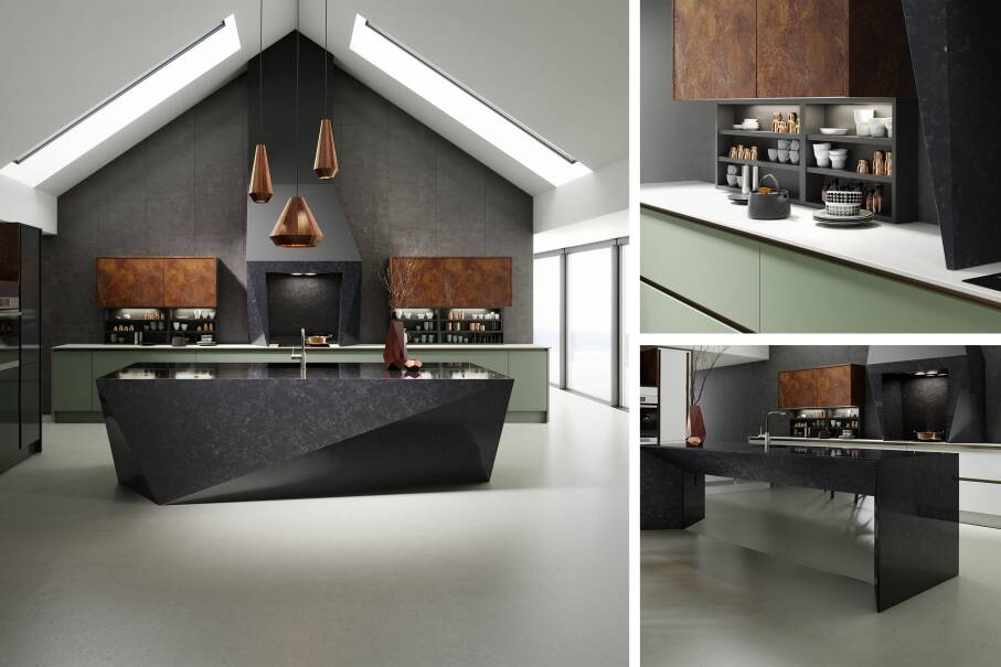 Milano Elements Vertical Copper Slate Matt Kitchen
