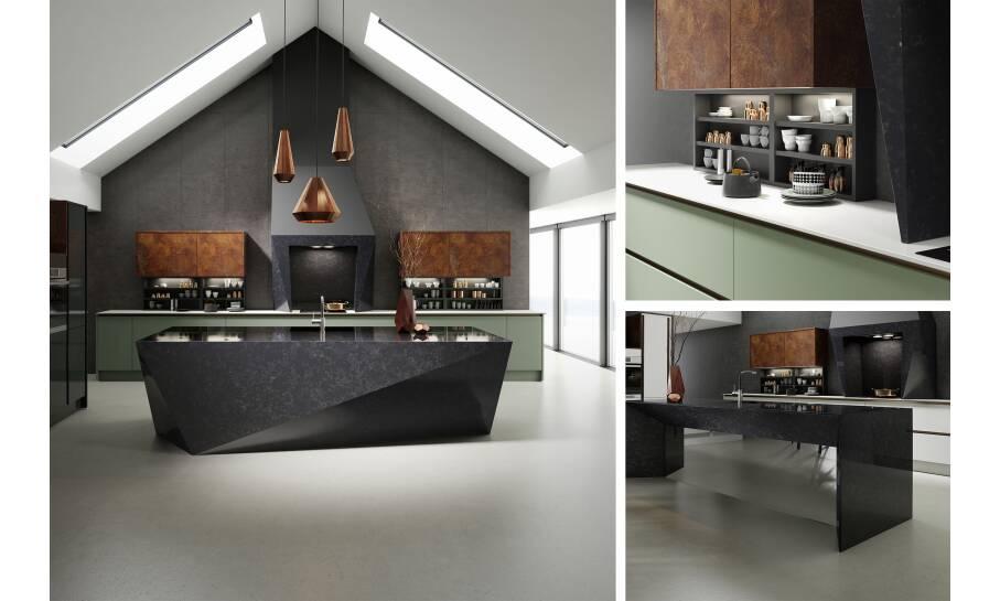 Milano Elements Vertical Copper Slate Matt Kitchen