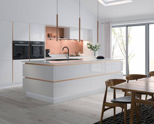 Milano Ultra Bianco Gloss kitchen