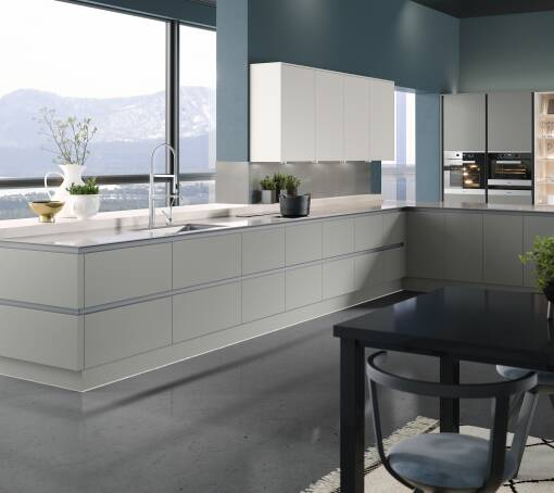 Milano Ultra Dove Satin kitchen