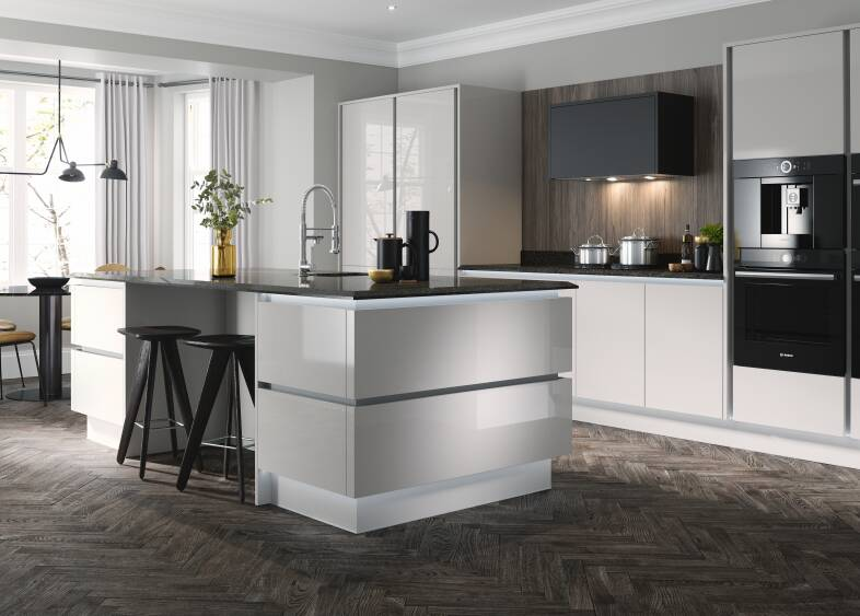 milano ultra kitchen in cloud wren kitchens. Black Bedroom Furniture Sets. Home Design Ideas