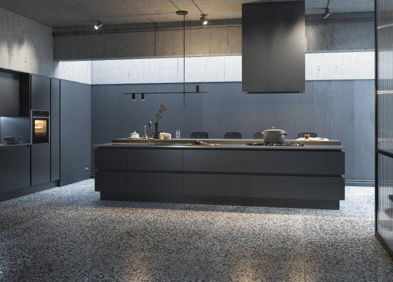 Milano Ultra Kitchen in Pencil | Wren Kitchens