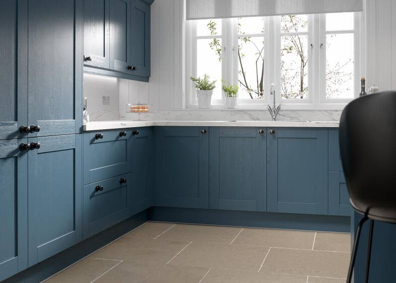 Shaker 5 Piece in Indigo kitchen