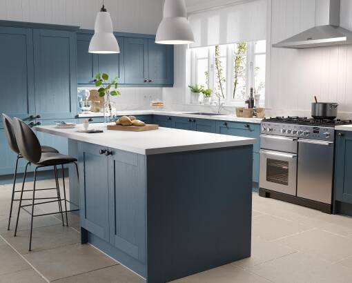 Shaker 5 Piece Indigo Matt kitchen