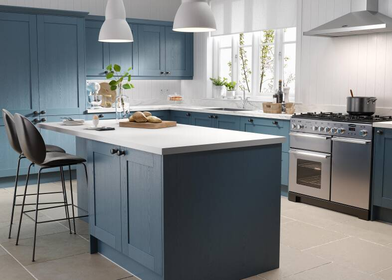 Shaker 5 Piece Kitchen in Indigo