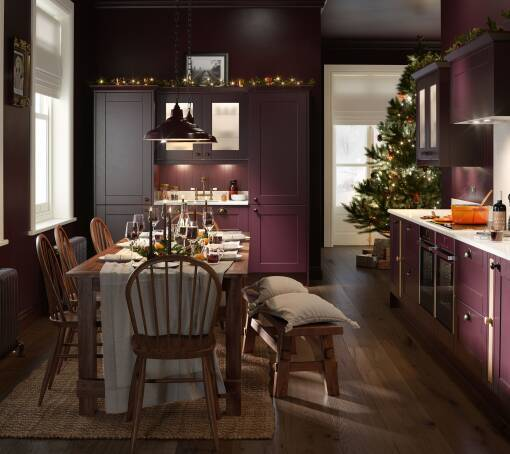 Shaker Aubergine Matt kitchen